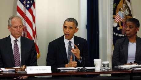 O presidente norte-americano, Barack Obama, fala durante uma reunião do Conselho de Exportação da Presidência, na Casa Branca, em Washington, Estados Unidos, nesta quinta-feira. 11/12/2014