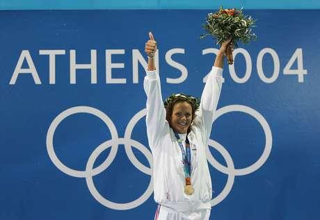 <p>Manaudou ganhou três medalhas (uma de ouro, uma de prata e uma de bronze) nos Jogos Olímpicos de 2004</p>