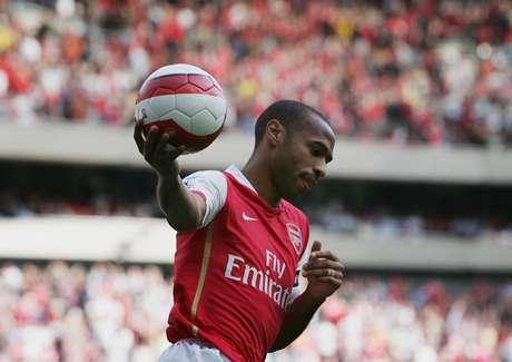 <p>Henry é o maior artilheiro da história do Arsenal e da França</p>