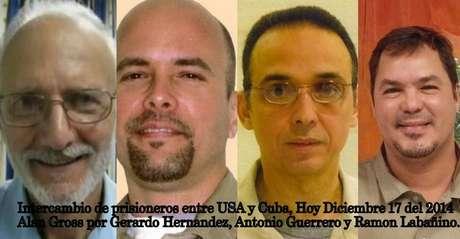 """Prisioneiros americano e cubanos que foram """"trocados"""" entre os dois países"""