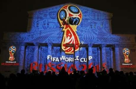 Logotipo oficial da Copa do Mundo da Rússia, que ocorrerá em 2018. 28/10/2014.