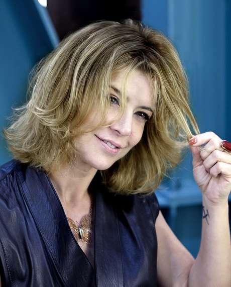 O hair stylist Wanderley Nunes fez babylights no cabelo da atriz Christine Fernandes