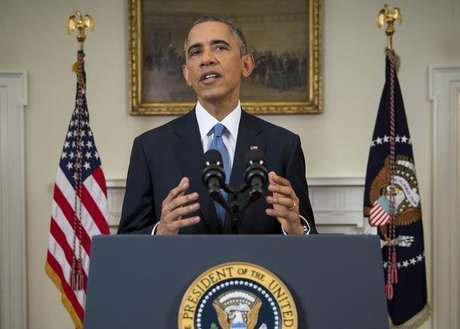 <p>Obama durante o anúncio de reaproximação com o governo cubano</p>