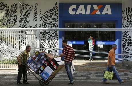 Agência da Caixa Economica Federal no Rio de Janeiro.