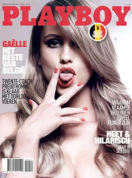 <p>Gaëlle García Díaz foi capa da revista Playboy na Holanda e na Bélgica</p>