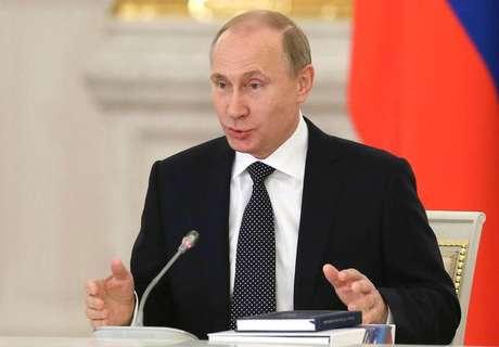 O presidente da Rússia, Vladimir Putin, durante reunião do Conselho de Estado, no Kremlin, em Moscou, na semana passada. 24/12/2014