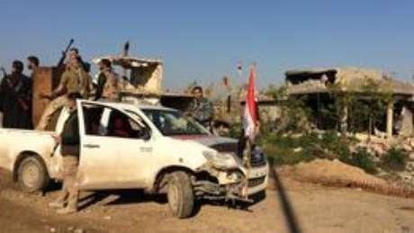 <p>&Aacute;rea de confronto entre mil&iacute;cias iraquianas e o &#39;Estado Isl&acirc;mico&#39;</p>