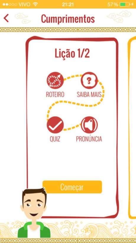 <p>O cliente do Kantoo Mandarim também podeacessar ao aplicativo (inicialmente para iOS) que reúne todas as lições e conteúdos em um só lugar</p>