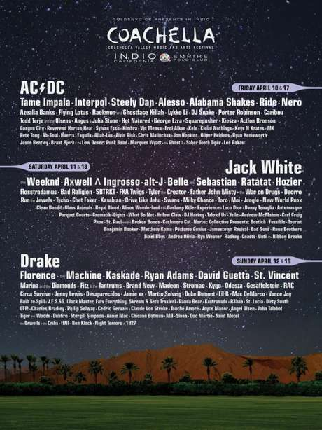 AC/DC encabeça line-up do Coachella