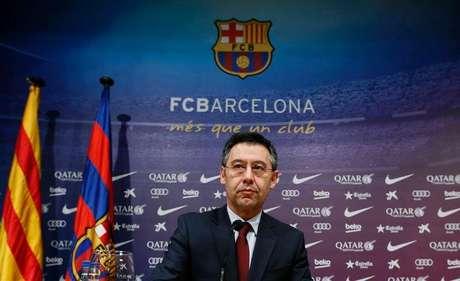 <p>Presidente do Barcelona, Josep Maria Bartomeu nega acusações</p>