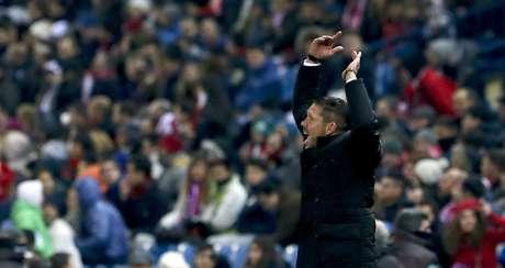 Diego Simeone vibrou muito com o resultado
