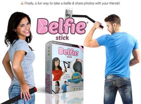 O Belfie Stick foi desenvolvido pela companhia americana On.com, um site de relacionamento de pessoas por meio de fotos
