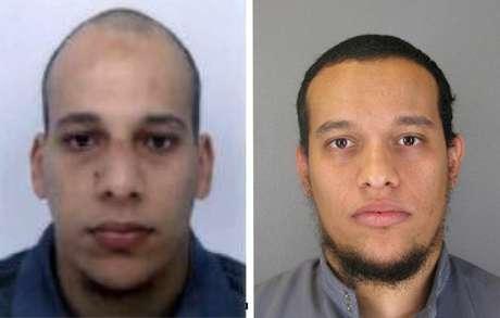 Cherif (izquierda) y Said Kuachi, los dos sospechosos del ataque al semanal satírico Charlie Hebdo, en foto distribuida por la policía de la prefectura de París, este 8 de enero del 2015.