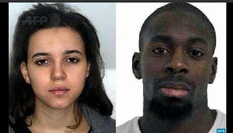 Amedy Coulibaly (izda) y Hayat Boumeddiene (dcha) sospechosos de la muerte de la agente francesa tras el ataque a Charlie Hebdo.