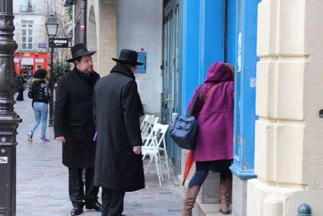 Rue de Rosiers, no bairro Marais, é conhecida pela comunidade de judeus