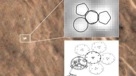 <p>Imagens da Nasa mostram o local onde a Beagle2 pousou</p>