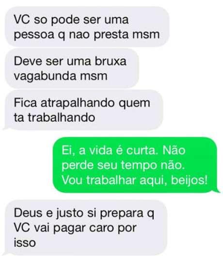 """<p>Estudante paulista foi ofendida e ameaçada por meio de mensagens; insultos foram de """"otária"""" a """"vagabunda""""</p>"""