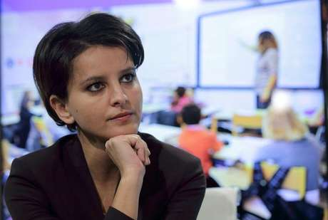 Ministra da Edução e Pesquisa da França, Najat Vallaud-Belkacem, em Paris. 22/01/2015