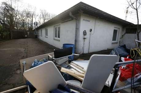 Foto de 13 de janeiro mostra o antigo anexo do campo de concentração Buchenwald, que seria usado para abrigar 21 refugiados na cidade de Schwerte