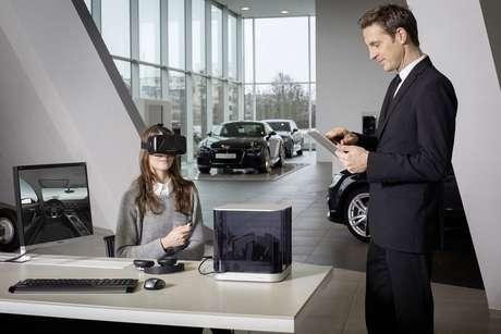 Dispositivo permite que o usuário veja o carro em três dimensões