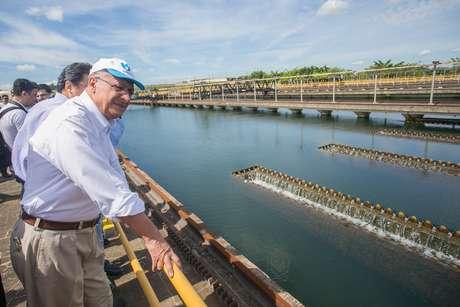 O governador Geraldo Alckmin anunciou obra para captação de água do córrego Guaratuba para o Sistema do Alto Tietê nesta terça