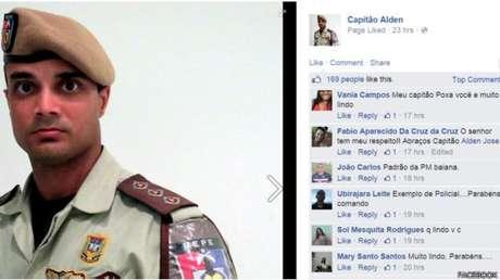<p>Capitão também recebe elogios do público feminino em suas fotos postadas na página</p>