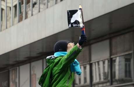 Criança belga participa de marcha