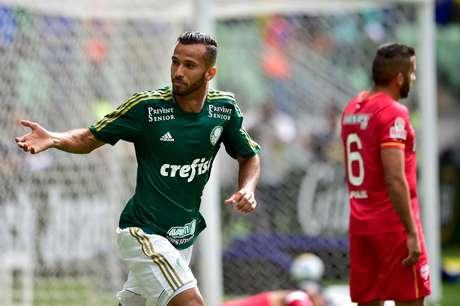 No último domingo, Leandro Pereira marcou seu sétimo gol no campeonato