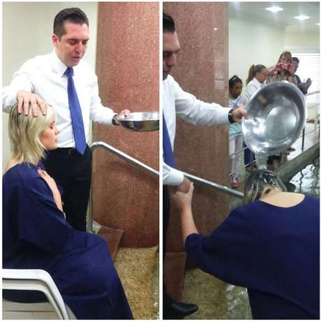 "<p>Modelo ainda afirmou que ""o coisa ruim"" tentou desviá-la do batismo</p>"