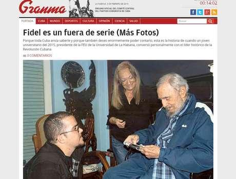Cuba publica primeras fotos de fidel castro en casi seis meses for Fotos fuera de serie