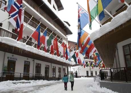<p>Vila Olímpica em Rosa Khutor recebeu os principais atletas dos esportes de neve</p>