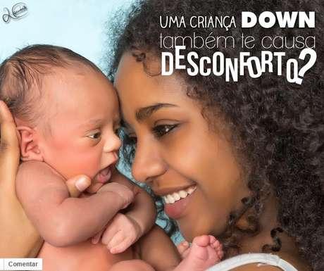 """<p>Críticas foram publicadas sob o título """"Uma criança down também te causa desconforto?""""</p>"""