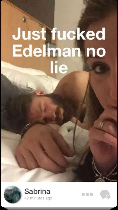 Julian Edelman estava dormindo na foto