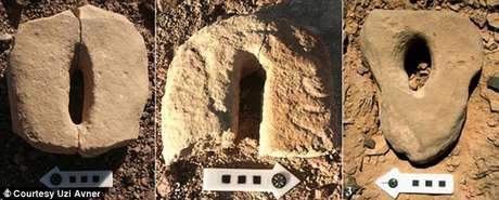 Pedras fálicas gigantes foram encontradas no local