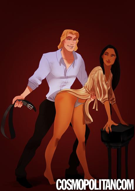 <p>Pocahontas e John Smith, <em>Pocahontas</em></p><p></p>