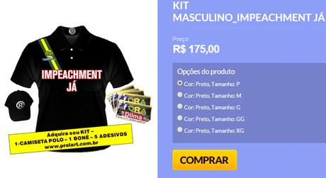 Kit criado pelo grupo Revoltados Online e vendido na internet