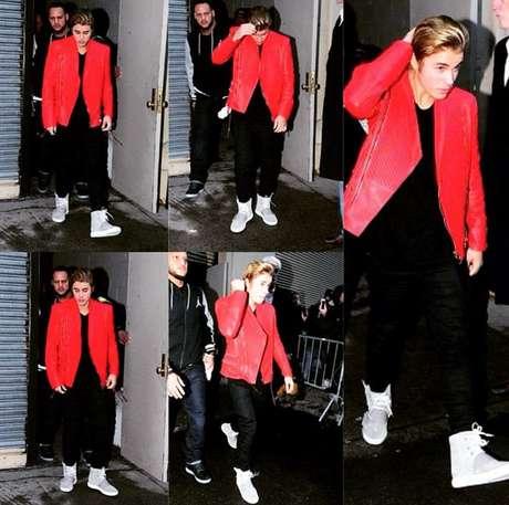 O cantor Justin Bieber prestigiou o evento