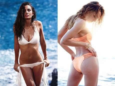Tops da Victoria's Secret divulgam nova coleção de moda praia da marca