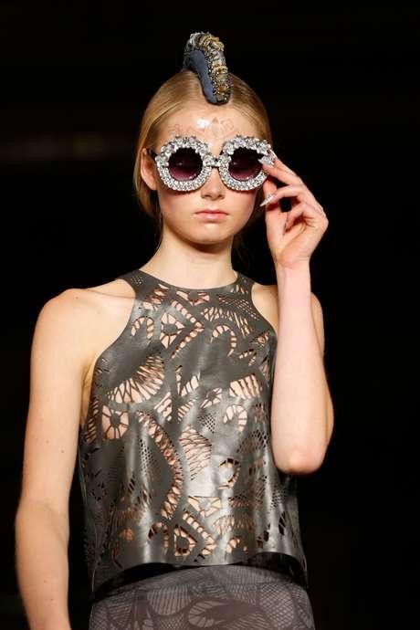Desfile de Mariana Jungmann na semana de moda de Londres Primavera-Verão 2015, em setembro de 2014