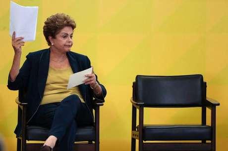 Presidente Dilma Rousseff em evento no Palácio do Planalto durante evento no Palácio do Planalto, em Brasília. 26/02/2015