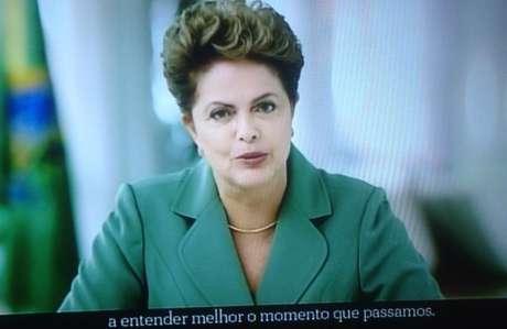 Dilma fez um pronunciamento oficial na TV, neste domingo