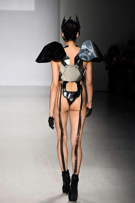 Bumbum de fora na passarela da FTL Moda, na Semana de Moda de Nova York