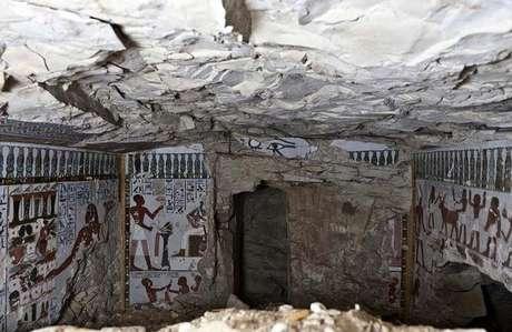 Imagem da tumba encontrada em Luxor