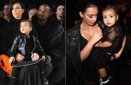 Kim veste a filha North West com roupas parecidas com as suas