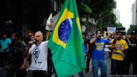 <p>Manifestantes pedem saída de Dilma Rousseff no Rio</p>