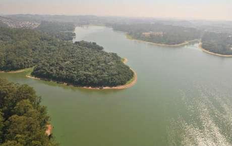 A represa de Guarapiranga, em São Paulo