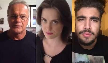 Atores fizeram vídeos em apoio aos protestos