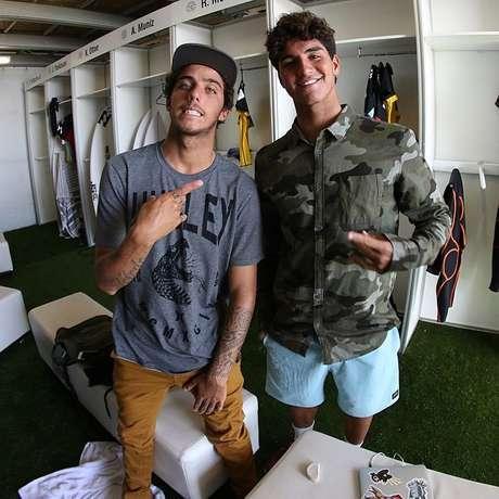 Filipe Toledo e Gabriel Medina são amigos e integrantes da Brazilian Storm