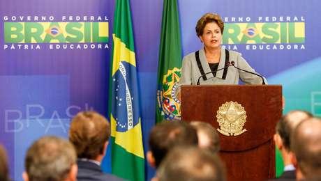 Presidente Dilma Rousseff durante cerimônia de Sanção do Código de Processo Civil, em 16 de março