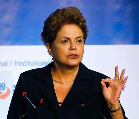 """<p>""""Queremos que esse dinheiro vá sustentar os gastos com projetos sociais"""", afirmou Dilma</p>"""
